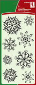 Fun Snow Flakes Clear Stamps - Inkadinkado