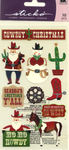 Cowboy Christmas Classic Sticko Stickers