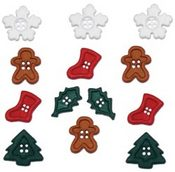 Chunky Christmas Shape Mini Mix Buttons - Dress It Up