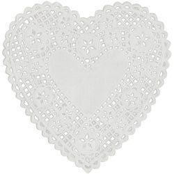 "White Heart 6"" Doilies - Royal Lace"