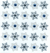 Snowflake Repeats Jolee's Boutique Holiday Stickers