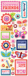 Simply Sweet Adhesive Chipboard Stickers