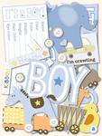Itsy Bitsy Baby Boy Diecut Cardstock