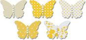 Yellow-Vellum Butterflies - Jenni Bowlin Studios