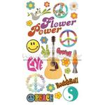 Flower Power 6.5 x 12 Rub-on - Paper House Productions
