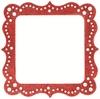 Artisan Square Red Glitter Bling Frame - Making Memories
