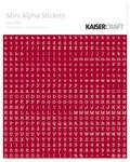 Mini Alpha Stickers - Red - KaiserCraft