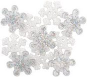 Sparkle Flakes Christmas Buttons - Dress It Up