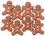 Iced Gingerbread Cookies Christmas Buttons - Dress It Up