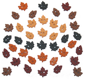 Tiny Raking Leaves Fall Buttons - Dress It Up