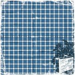 Heartfelt Travel Blue Plaid Fabric Paper - TPC Studio