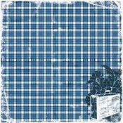 Heartfelt Travel Blue Plaid Fabric Paper - TPC Studio