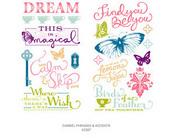 Damsel Mini Mark Rub-ons Dear Lizzy Enchanted American Crafts