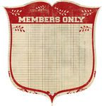 Members Only Die Cut Paper - Old School By Pink Paislee