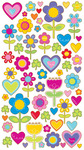 I Love Flowers Stickers - EK Success
