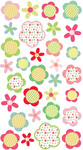 Patchwork Flowers Stickers - EK Success