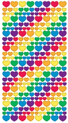 Metallic Rainbow Hearts Stickers - EK Success