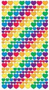 Metallic Rainbow Hearts Stickers - EK Success