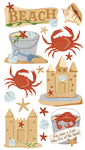 Beach And Crabs Stickers - EK Success