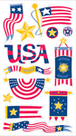 American Flags Stickers - EK Success