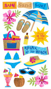 Sun Surf Sand Stickers - EK Success