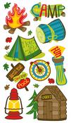 Camping Fun Stickers - EK Success