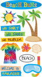 Beach Bums Stickers - EK Success