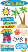 Beach Bums Stickers - EK Success