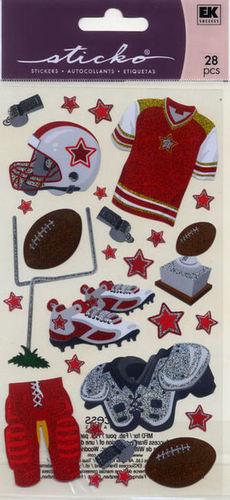 Football Gear Stickers - EK Success