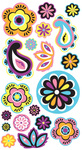 Vellum Paisley And Flowers Stickers - EK Success