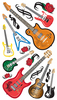 Guitar Rock Stickers - EK Success