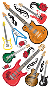 Guitar Rock Stickers - EK Success