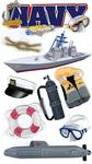 Navy Stickers - EK Success