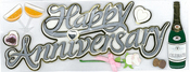 Happy Anniversary Sticker - Jolee's Boutique By EK Success