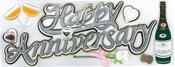 Happy Anniversary Sticker - Jolee's Boutique By EK Success