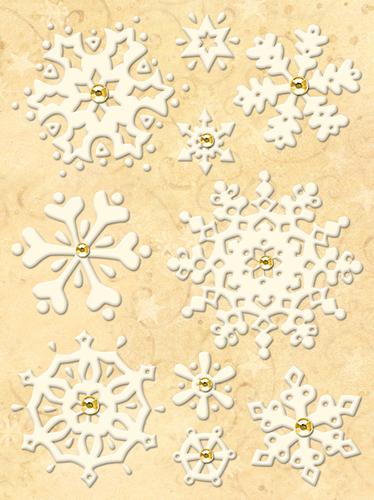 Snowflake Die-cut Stickers - Susan Winget