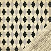 Noir Patterned Argyle Paper - Making Memories
