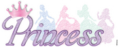 Princess Glitter Disney Sticker - EK Success