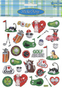 Golfing Cats Stickers