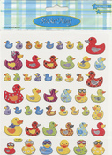 Colorful Ducks Stickers