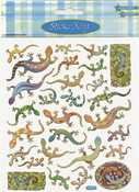 Colorful Lizards Stickers