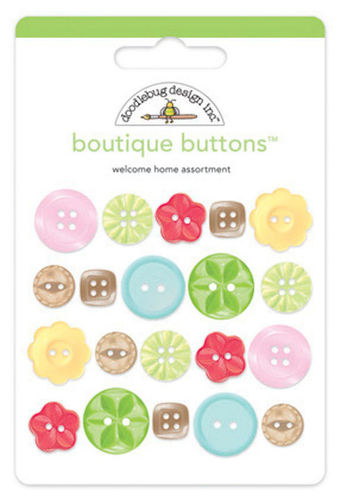 Welcome Home Boutique Buttons - Doodlebug Design