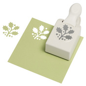 Martha stewart crafts punches holly branch large punch for Pre punched paper for crafts