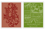Merry Christmas & Vintage Holiday Textured Fades Embossing Folders - Tim Holtz