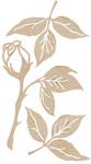 Roses & Stems Wood Flourishes - KaiserCraft