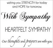 Sympathy Mini Clear Stamps - KaiserCraft