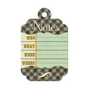 Notes Die-cut Tag - Merry January By We R Memory Keepers