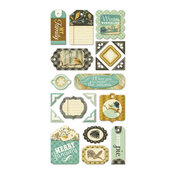 Merry January Layered Chipboard Tags - We R Memory Keepers