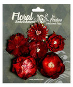 Red/Burgundy Mixed Blooms - Chantilly Collection By Petaloo
