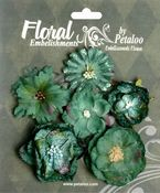 Blue/Green Mixed Blooms - Chantilly Collection By Petaloo